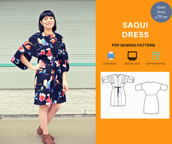Saqui Dress PDF sewing pattern