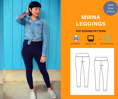 Mirna Leggings PDF sewing pattern
