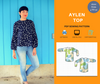 Aylen top For WOMEN PDF sewing pattern and sewing tutorial