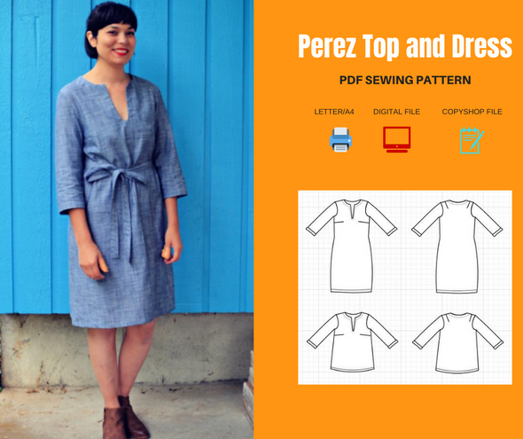 Perez Top, dress PDF sewing pattern