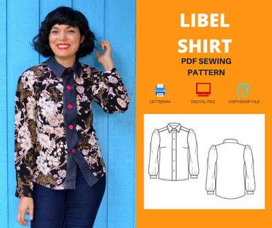 Libel top For WOMEN PDF sewing pattern and sewing tutorial