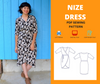 NIZE DRESS For WOMEN PDF sewing pattern and sewing tutorial