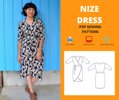 Nize Dress WOMEN PDF sewing pattern and sewing tutorial