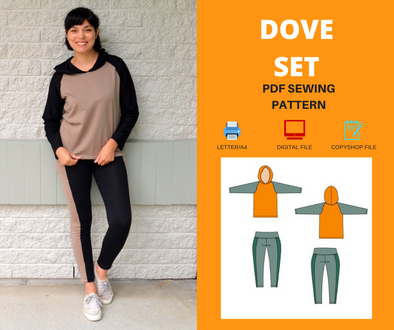 DOVE set For WOMEN PDF sewing pattern and sewing tutorial