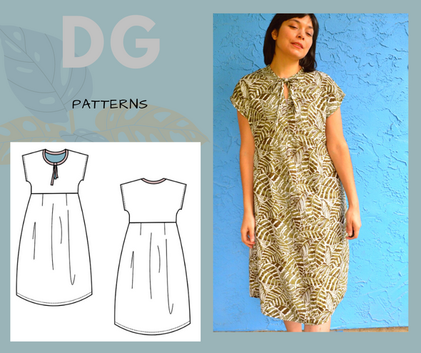 JANICE DRESS FOR WOMEN PDF sewing pattern and sewing tutorial