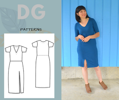 Karina Dress For WOMEN PDF sewing pattern and sewing tutorial