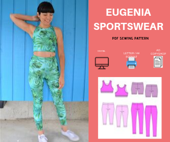 Eugenia Sportswear PDF sewing pattern