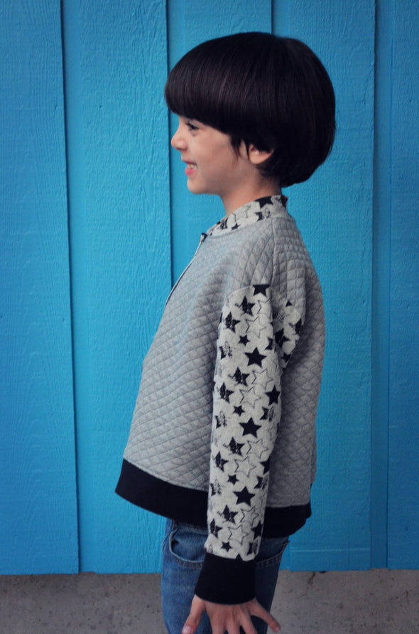 Inara KIDS Bomber Jacket PDF sewing pattern