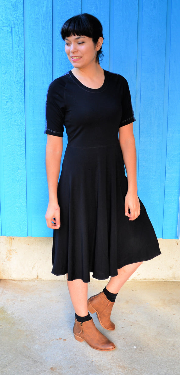 Marley knit top and dress PDF sewing pattern