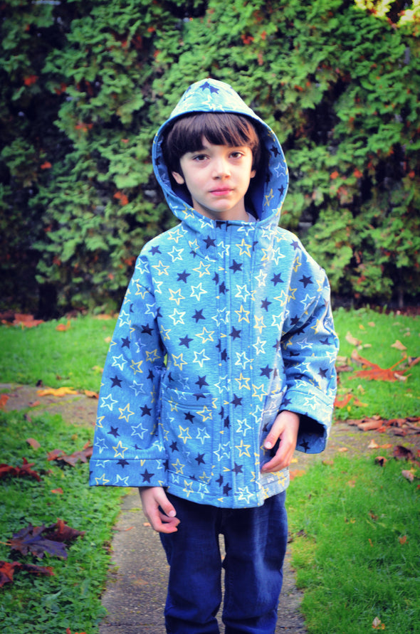 Maxwell Raincoat For Kids PDF sewing pattern