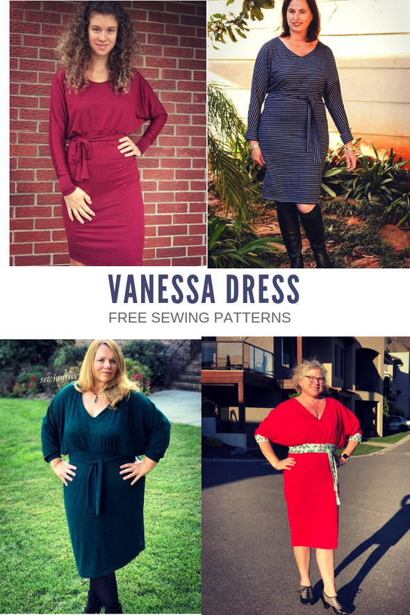 Vanessa Dolman Sweater Dress PDF sewing pattern