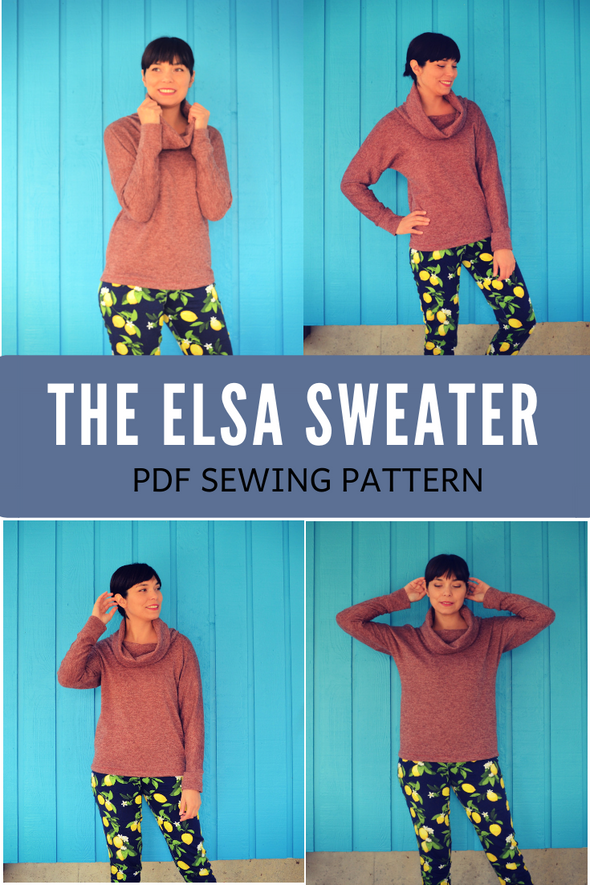 Elsa Sweater PDF sewing pattern and sewing tutorial
