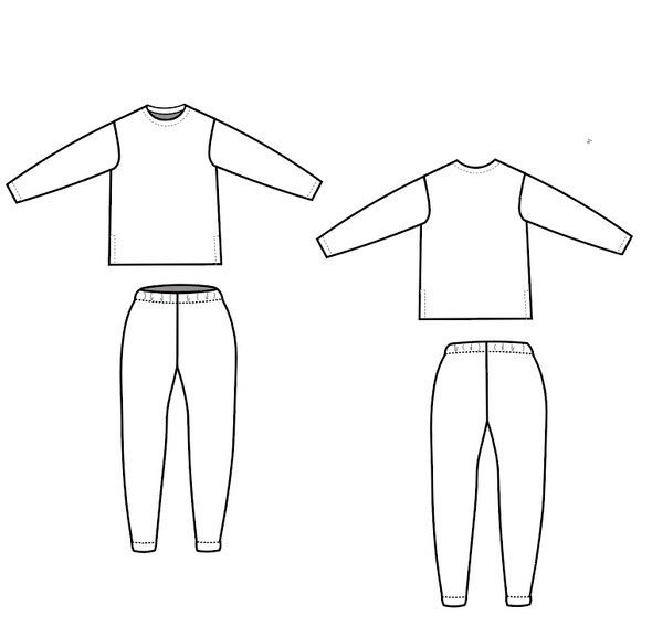 Milena Loungewear Set For WOMEN PDF sewing pattern and sewing tutorial