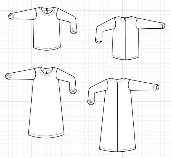 Morena Top and Dress PDF sewing pattern