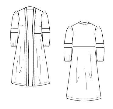 Robe Dress For WOMEN PDF sewing pattern and sewing tutorial