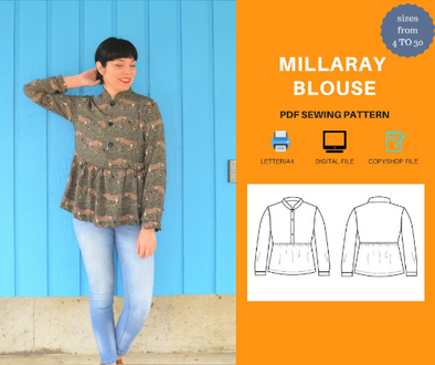 Millaray top For WOMEN PDF sewing pattern and sewing tutorial