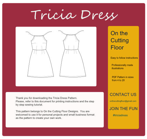 Tricia Dress Pattern: Instant download sewing pattern for women dress - DGpatterns