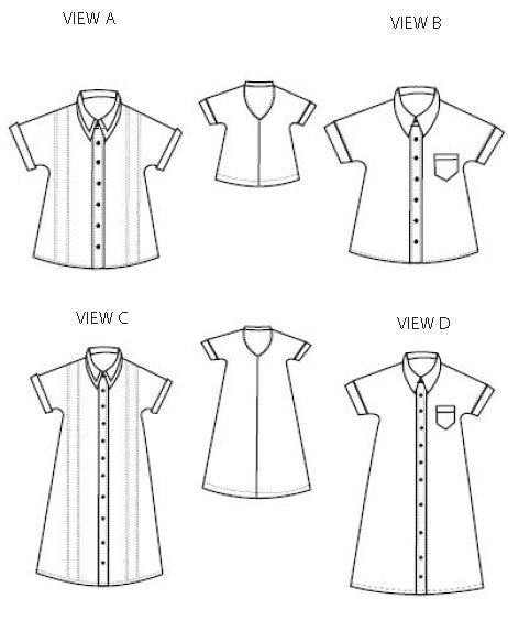 The Ashley Kimono Shirt and Dress PDF pattern - DGpatterns