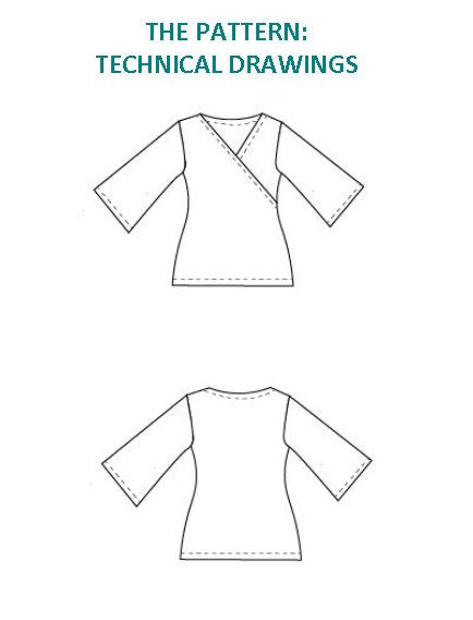 Crossover Top PDF Sewing Pattern and printable tutorial - DGpatterns