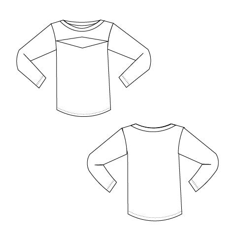CUTOUT  top:  Printable PDF sewing pattern for women - DGpatterns