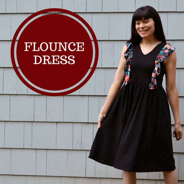 The Flounce Top and Dress PDF sewing pattern:  The files include a step by step sewing tutorial and patterns available in sizes 4 to 22 - DGpatterns