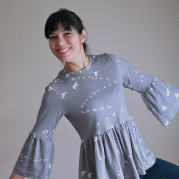 The Statement Top PDF sewing pattern - DGpatterns