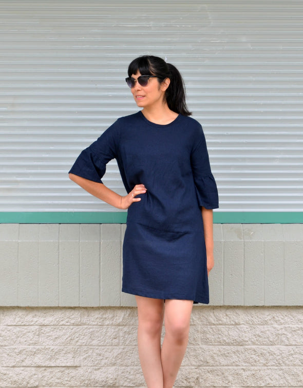 The Alice Top, tunic and dress PDF sewing pattern and tutorial for women.  Sizes available in 4 to 22 including plus size - DGpatterns