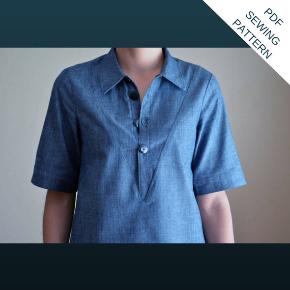 Megan Shirt:  PDF printable Sewing Pattern - DGpatterns