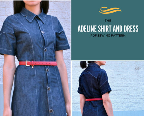 Adeline Dress and Button up Shirt PDF - DGpatterns