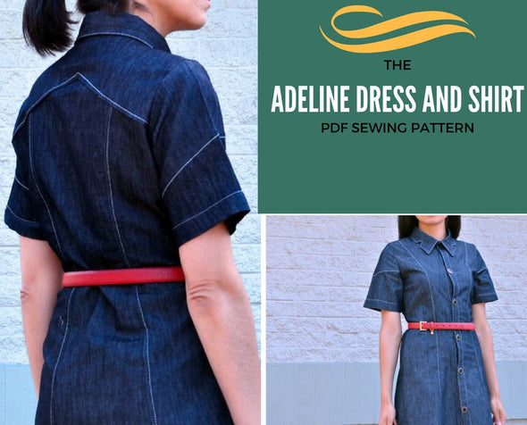Adeline Button Up Shirt PDF Sewing pattern - DGpatterns