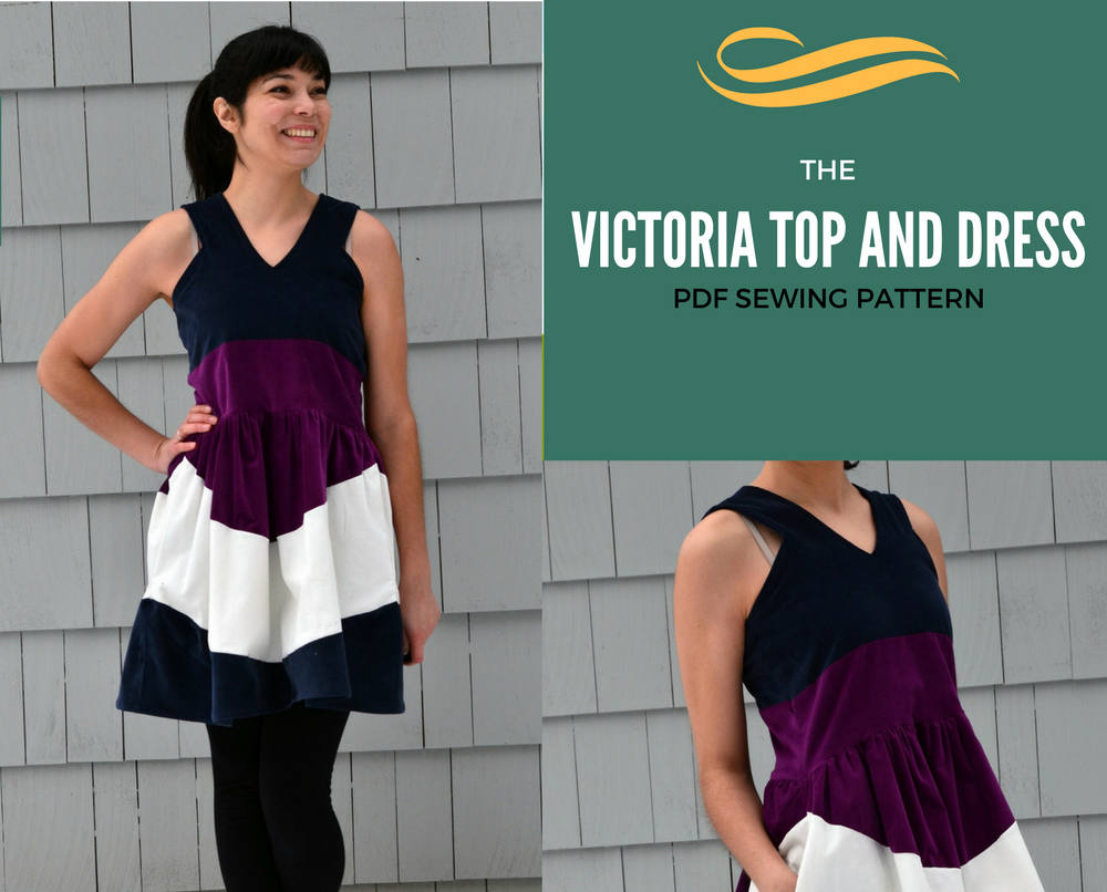 the Victoria Top and Dress Pattern and Tutorial: PDF printable sewing  pattern and tutorial including sizes 4 to 22 and step by step illust