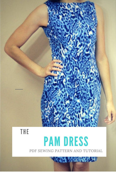 Pam Dress Pattern:  Instant PDF download sewing pattern for women dress - DGpatterns