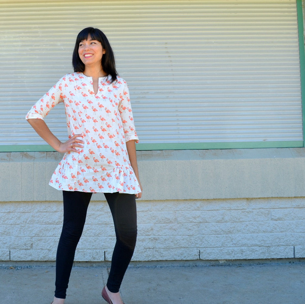 The Luise Tunic and Dress PDF printable sewing pattern and step by step  sewing tutorial