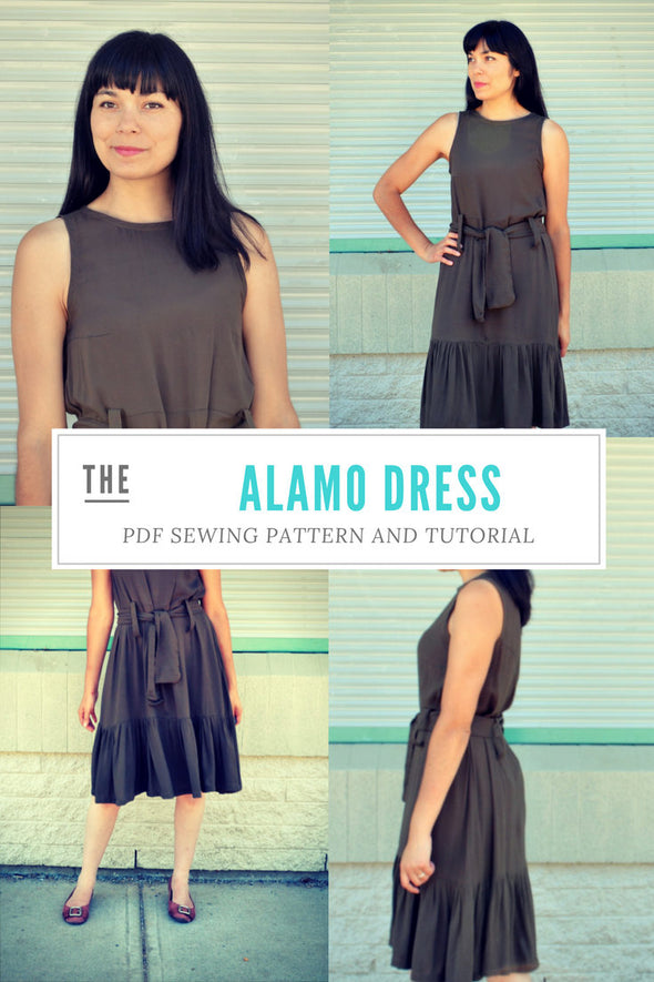 The Alamo Dress PDF sewing pattern - DGpatterns