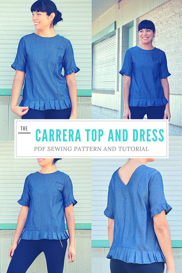 The Carrera Top and Dress Printable Sewing pattern - DGpatterns