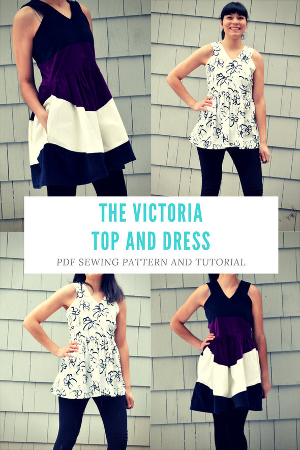 the Victoria Top and Dress Pattern and Tutorial - DGpatterns