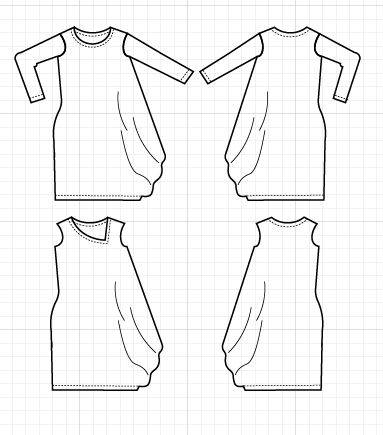 The Brianna Dress PDF printable Sewing pattern and Step By Step Sewing Tutorial - DGpatterns