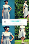High Low Skater Dress PDF printable sewing pattern and Step by Step sewing tutorial - DGpatterns