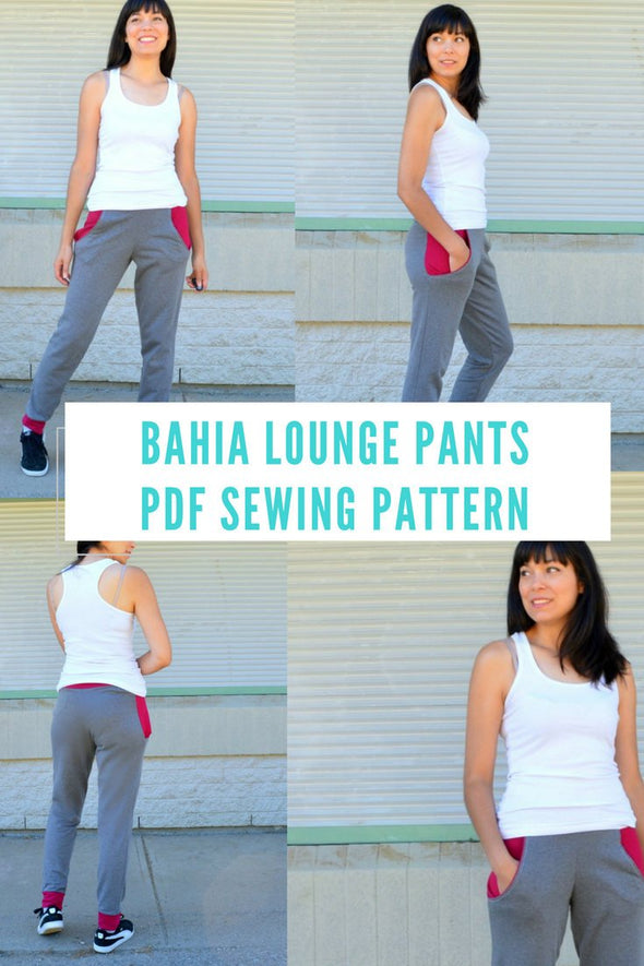 The Bahia Lounge Pants PDF sewing pattern and printable sewing tutorial - DGpatterns