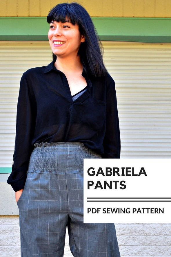 Gabriela Pants PDF sewing pattern and sewing tutorial - DGpatterns