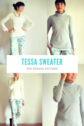 Tessa Sweater and Sweater Dress Pattern - DGpatterns