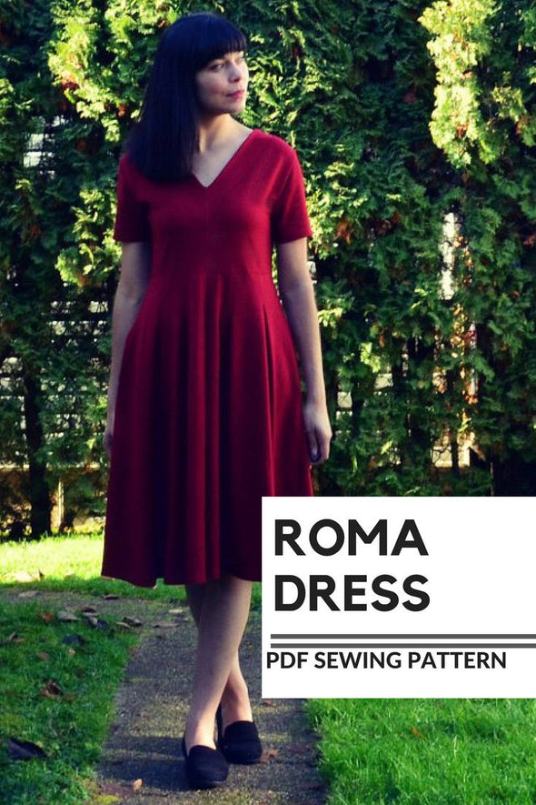 The Roma Dress PDF sewing pattern and Tutorial - DGpatterns