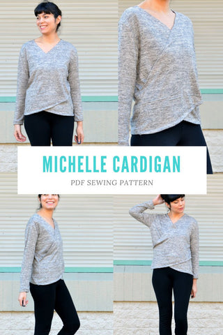 Michelle Cardigan PDF sewing pattern and step by step sewing tutorial