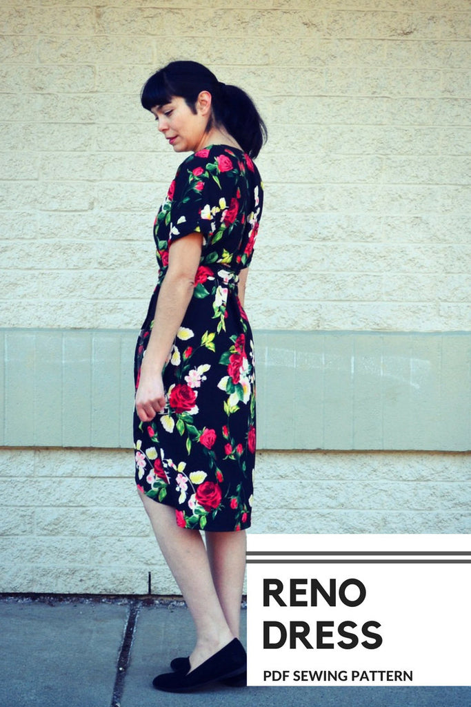 The Reno Dress PDF sewing pattern and step by step sewing