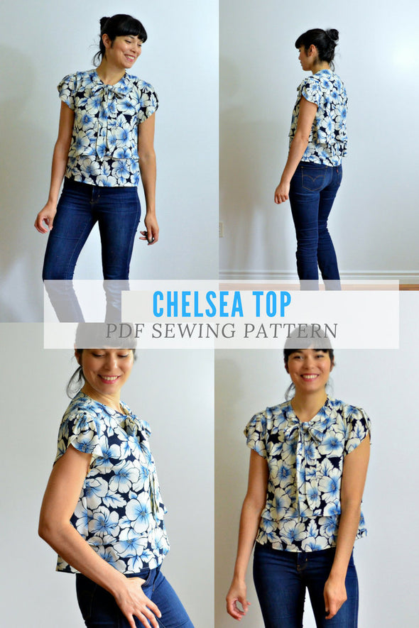 The Chelsea Top PDF sewing pattern and sewing tutorial - DGpatterns