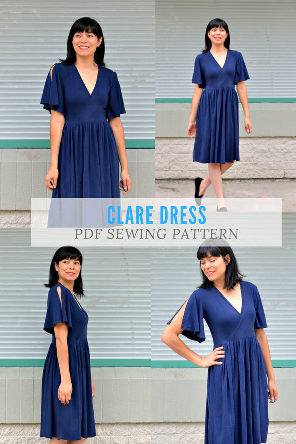 Clare Dress Pattern PDF sewing pattern - DGpatterns
