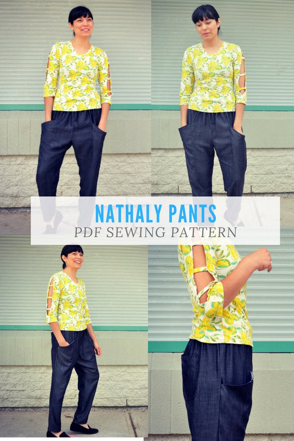 The Nathaly Pants PDF sewing patterns and sewing tutorial - DGpatterns