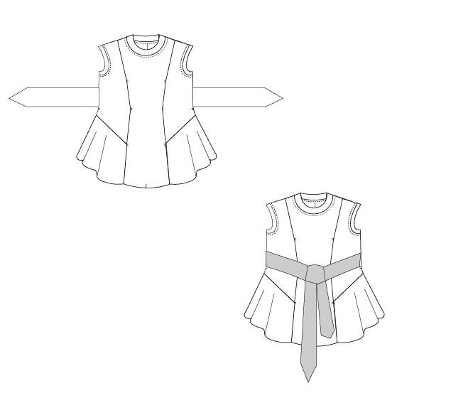 photo relating to Printable Sewing Patterns named APRIL ultimate and shirt PDF printable sewing routine