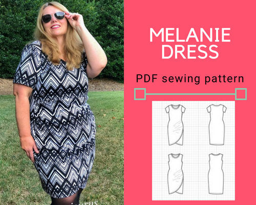 Melanie Dress PDF sewing pattern and sewing tutorial - DGpatterns