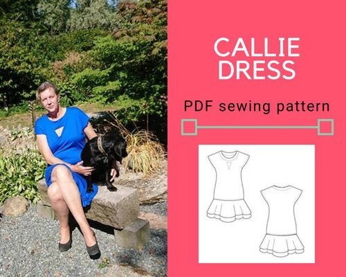 Callie Dress PDF sewing pattern and sewing tutorial - DGpatterns